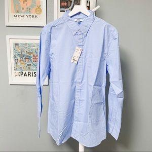 Uniqlo Checkered Blue Button-Down Shirt XL